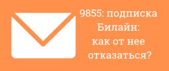 9855 что за подписка на билайн