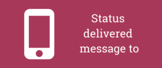 status message to delivered at перевод