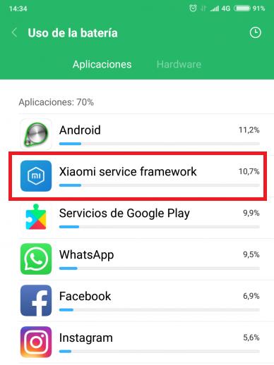 xiaomi service framework как отключить